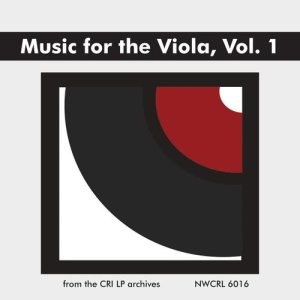 Album Music for the Viola: A Twentieth Century Anthology, Vol. 1 from John Graham