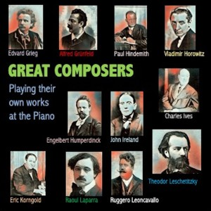 Album Great Composers Playing their own works at the Piano from Edvard Grieg