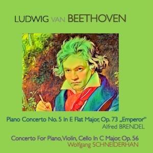 """皮埃爾·富尼埃的專輯Ludwig van Beethoven - Piano Concerto No.5 in E Flat-Major Op.73 """"Emperor"""" · Concerto for Piano, Violin, Cello in C Major, Op.56"""