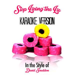Karaoke - Ameritz的專輯Stop Living the Lie (In the Style of David Sneddon) [Karaoke Version] - Single