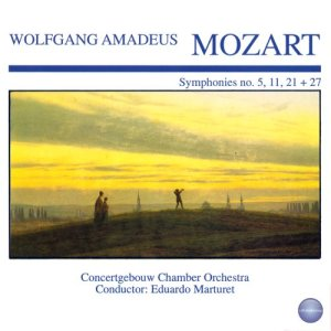 Album Mozart: Symphonies No. 5, 11, 21 + 27 from Concertgebouw Chamber Orchestra