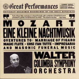 """Mozart: Serenade No. 13 in G Major, K. 525 """"Eine kleine Nachtmusik"""", Overtures & Masonic Funeral Music, K. 477 1987 Bruno Walter; 哥伦比亚交响乐团"""