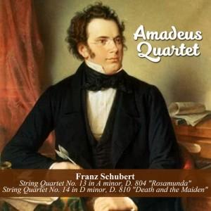 """Album Franz Schubert: String Quartet No. 13 in A minor, D. 804 """"Rosamunda"""" / String Quartet No. 14 in D minor, D. 810 """"Death and the Maiden"""" from Amadeus Quartet"""