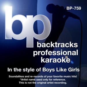 Album Karaoke - In the Style of Boys Like Girls from Backtrack Professional Karaoke Band
