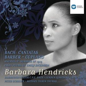 Album Bach Cantatas and Barber/Copland from Barbara Hendricks