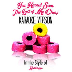 Karaoke - Ameritz的專輯You Haven't Seen the Last of Me (Cher) [In the Style of Burlesque] [Karaoke Version] - Single