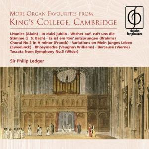 Album More Organ Favourites from King's College, Cambridge from Philip Ledger