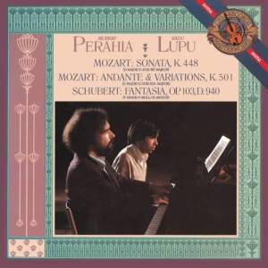Album Mozart: Sonata in D Major for Two Pianos, K. 448; Schubert: Fantasia in F minor for Piano, Four Hands, D. 940 (Op. 103) from Radu Lupu