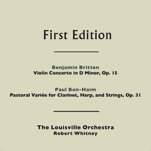 Album Benjamin Britten: Violin Concerto in D Minor, Op. 15 - Paul Ben-Haim: Pastorale Variée for Clarinet, Harp, & Strings, Op. 31 from Britten
