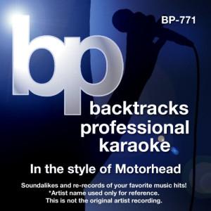 Album Karaoke - In the Style of Motorhead from Backtrack Professional Karaoke Band