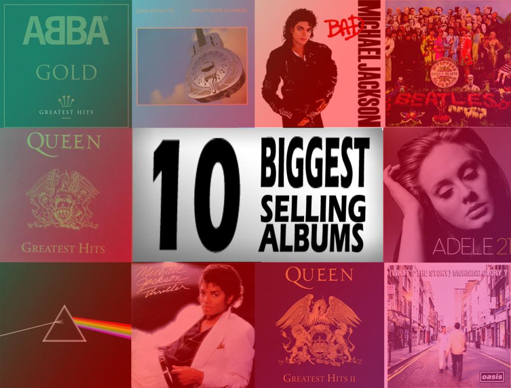 10 อัลบั้มยอดขายสูงสุดตลอดกาลของประเทศอังกฤษ