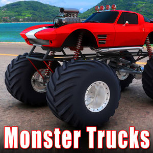 收聽Sound Ideas的Monster Truck Approach at Fast Speed & Enters Heavy Mud and Water Pit with Spinning Tires歌詞歌曲