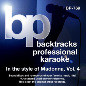 Karaoke - In the Style of Madonna, Vol. 4