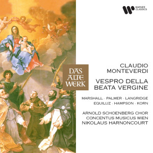 "Listen to Vespro della Beata Vergine, SV 206: Responsorium. Sonata sopra ""Sancta Maria ora pro nobis"" song with lyrics from Nikolaus Harnoncourt"