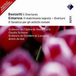 Claudio Scimone的專輯Donizetti, Cimarosa & Mercadante : Overtures & Sinfonias  -  Apex