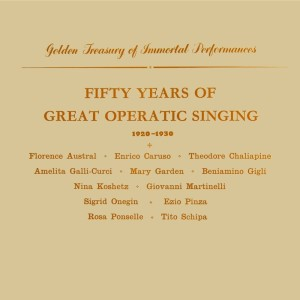Album Fifty Years Of Great Operatic Singing from Bruno Seidler-Winkler