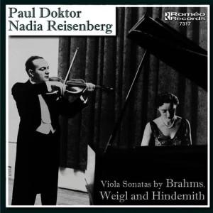 Album Viola Sonatas by Brahms, Weigl, and Hindemith from Nadia Reisenberg