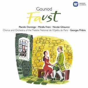"""收聽Georges Pretre的Faust, CG 4, Act 3 Scene 11: No. 18, (a) Duo """"Il se fait tard, adieu!"""" (Marguerite, Faust) - No. 18, (b) """"Tête folle!"""" (Méphistophélès, Faust)歌詞歌曲"""