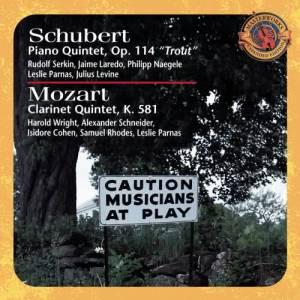 """Album Schubert: Piano Quintet in A major, D. 667 """"Trout Quintet"""" & Mozart: Clarinet Quintet in A Major, K. 581 from Michael Tree"""