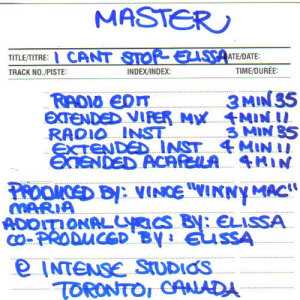 Album I Can't Stop: The Masters from Elissa