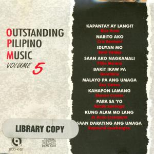 Album Outstanding pilipino music vol.5 from Various Artists