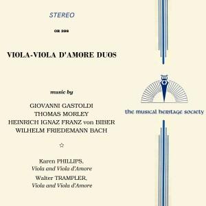 Walter Trampler的專輯Viola-Viola d'Gamba Duos