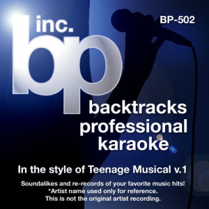 Album Karaoke - In the style of Teenage Musical, Vol. 1 from Backtrack Professional Karaoke Band
