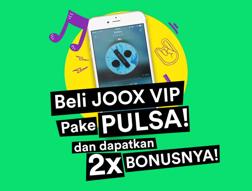 JOOX VIP Sekarang Bisa Bayar Pake Pulsa!