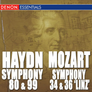 "Album Haydn: Symphony Nos. 80 & 99 - Mozart: Symphony Nos. 34 & 36 ""Linz Symphony"" from Cologne Chamber Orchestra"