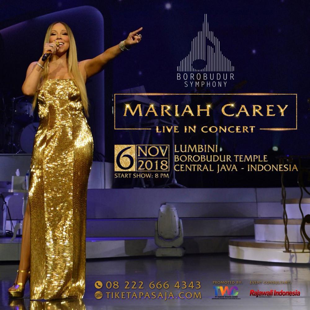 Detail Konser Mariah Carey di Candi Borobudur Nanti