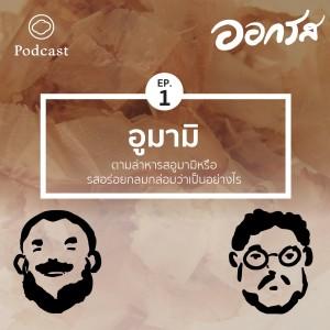 ฟังเพลงออนไลน์ เนื้อเพลง EP.1 อูมามิ : ตามล่าหารสอูมามิหรือรสอร่อยกลมกล่อมว่าเป็นอย่างไร ศิลปิน ออกรส [The Cloud Podcast]