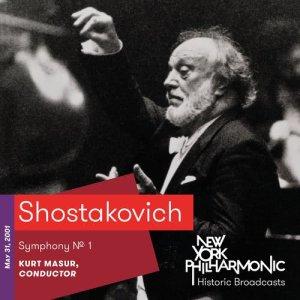 Album Shostakovich: Symphony No. 1 (Recorded 2001) from Kurt Masur