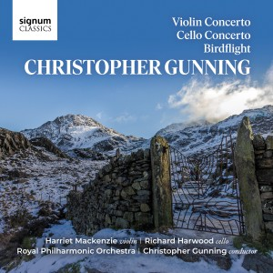 Album Christopher Gunning: Violin Concerto, Cello Concerto & Birdflight from Richard Harwood