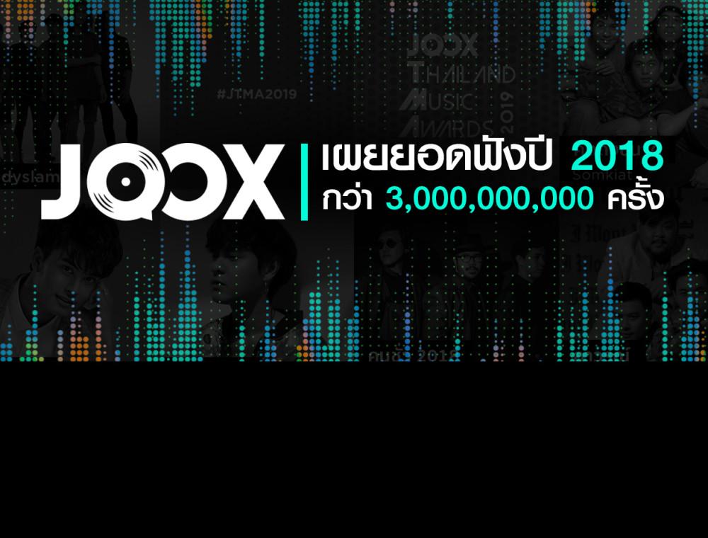 JOOX เผยยอดฟังปี 2018 กว่า 3 พันล้านครั้ง