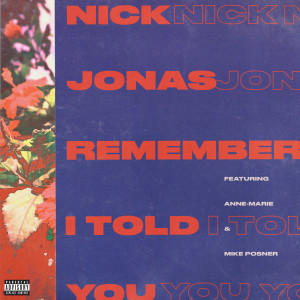 Remember I Told You 2017 Nick Jonas; Anne-Marie; Mike Posner