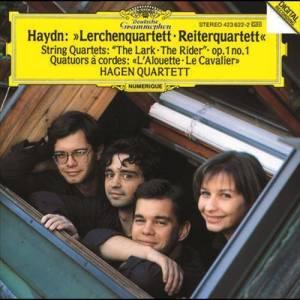 """Hagen Quartett的專輯Haydn: String Quartets Op.64 No.5 """"The Lark""""; Op.1 No.1; Op.74 No.3 """"The Horseman"""""""