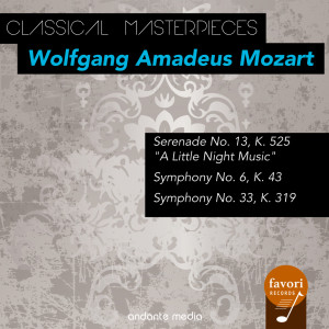 """Album Classical Masterpieces - Wolfgang Amadeus Mozart with """"A Little Night Music"""" from Karl Böhm"""