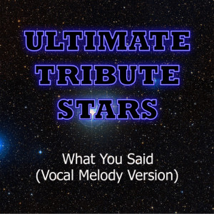 Ultimate Tribute Stars的專輯Sophia - What You Said (Vocal Melody Version)