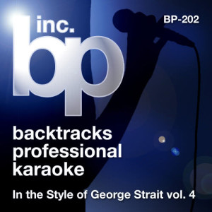Album Karaoke In the Style of George Strait, Vol. 4 from Backtrack Professional Karaoke Band