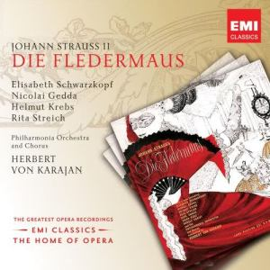 收聽Herbert Von Karajan的Die Fledermaus (1999 Remastered Version), Act II: Mein Herr Marquis, ein Mann wie Sie... (Adele/Chor)歌詞歌曲