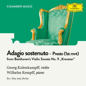 """收聽Georg Kulenkampff的Beethoven: Violin Sonata No. 9 in A Major, Op. 47 """"Kreutzer"""" - I. Adagio sostenuto - Presto歌詞歌曲"""