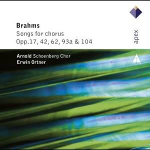Album Brahms : Lieder & Romanzen - Secular Choruses from Arnold Schoenberg Chor