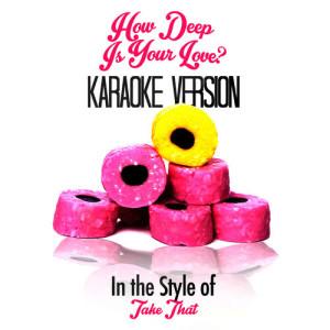Karaoke - Ameritz的專輯How Deep Is Your Love? (In the Style of Take That) [Karaoke Version] - Single