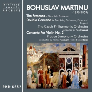Album Bohuslav Martinů; Frescoes of Piero Della Francesca & Double Concerto for Two String Orchestras from Czech Philharmonic Orchestra