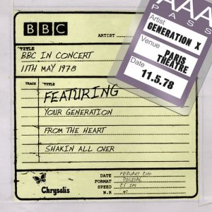 Listen to Your Generation (BBC In Concert 11/05/78) song with lyrics from Generation x