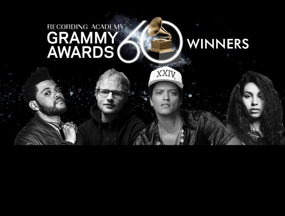 """ประกาศผลรางวัล """"60th GRAMMY Awards 2018"""""""