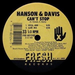 Album Can't Stop from Hanson & Davis