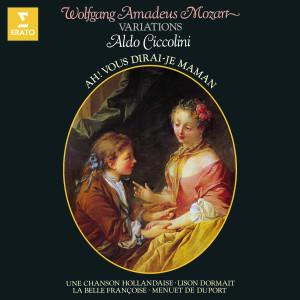 """Aldo Ciccolini的專輯Mozart: Variations sur """"Ah ! Vous dirai-je maman"""", """"Lison dormait"""" & le Menuet de Duport"""