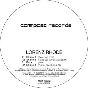 Album Shake It from Lorenz Rhode